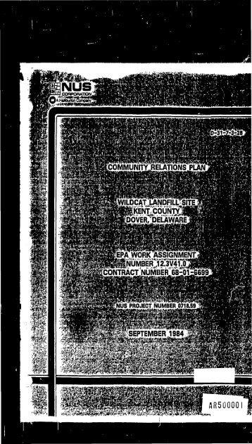 Community Relations Plan - September 1984 (PDF) - US ...