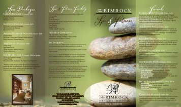 Spa Brochure (PDF) - The Rimrock Resort Hotel