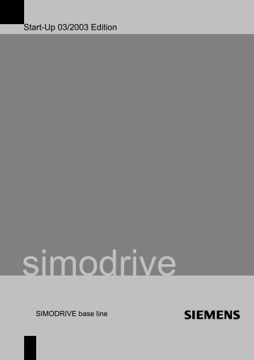 Start-Up SIMODRIVE base line - Siemens Automation and Drives ...