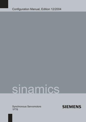 Configuration Manual Synchronous Motors 1FT6 - Siemens ...