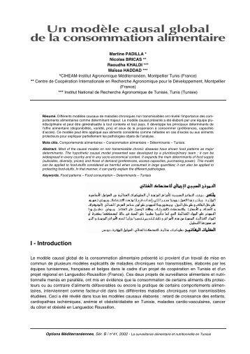 09. Conso - Surveillance Alimentaire et Nutritionnelle en Tunisie