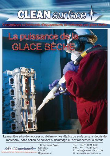La puissance de la GLACE SÈCHE - Clean Surface