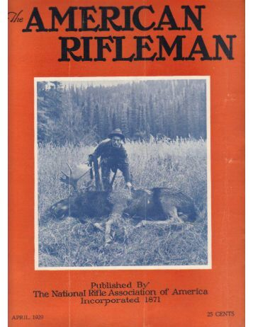 American Rifleman April 1929 Last Word by Keith