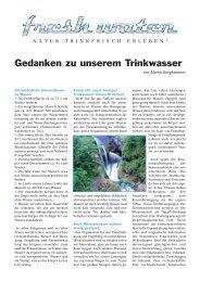 Gedanken zum Trinkwasser (Pdf-Download) - freshwater