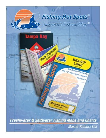 Freshwater & Saltwater Fishing Maps and Charts - Fishing Hot Spots ...