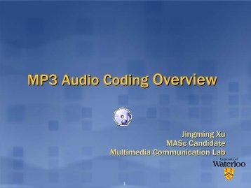 MP3 Audio Coding Overview - Multimedia Communications Lab