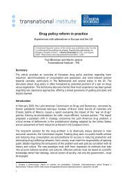 Drug policy reform in practice - Transnational Institute