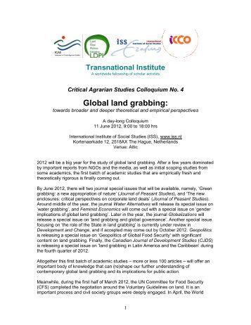 An analysis of global land grabbing
