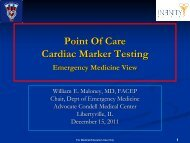 Point Of Care Cardiac Marker Testing
