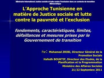 Cas de la Tunisie, M. Mohamed Zribi, Directeur