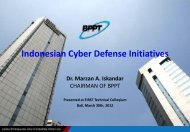 Indonesian National Cyber Defense - Incident Statistic 2011 - id – sirtii