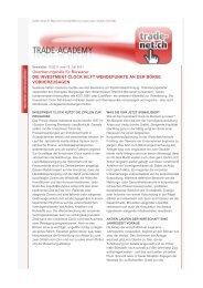 Orientierungshilfe für Börsianer DIE INVESTMENT ... - Trade-net