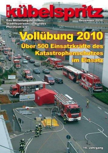Vollübung 2010 - Feuerwehr Pforzheim
