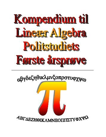 Kompendium til lineær Algebra - bennike.org