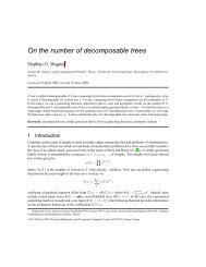On the number of decomposable trees - Institut für Analysis und ...