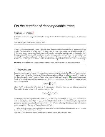 On the number of decomposable trees - Institut für Analysis und ...
