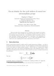 An identity for the cycle indices of rooted - Institut für Analysis und ...