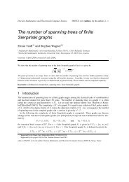 The number of spanning trees of finite Sierpi´nski graphs - Institut für ...