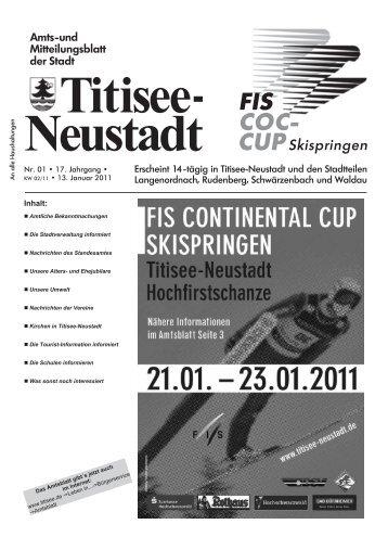 Amtsblatt Nr. 01 vom 13.01.2011 - Titisee-Neustadt