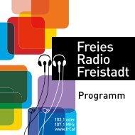 Reichweiten- und Potenzialanalyse - Freies Radio Freistadt