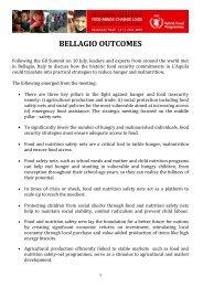 bellagio outcomes - WFP Remote Access Secure Services