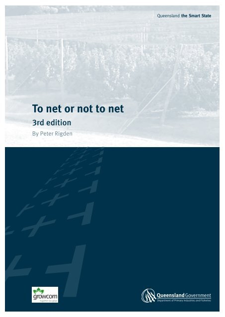 To net or not to net - 3rd edition - Department of Primary Industries