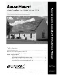 Unirac Code-Compliant Installation Manual