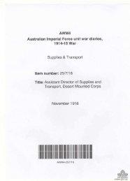 AWM4, 25/7/16 - Australian War Memorial