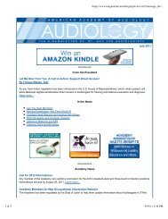 Preview.cfm? - American Academy of Audiology