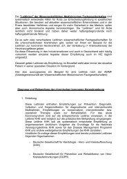 Leitlinien - Internistisches Hausärztliches Zentrum