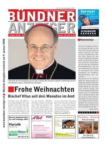 Frohe Festtage - Bündner Anzeiger