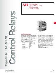 Control relays Type N, NE, NL & TNL Positive safety ... - ABB Control