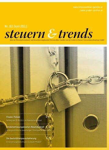 Steuern & Trends Juni 2011 - Gruber & Partner ...