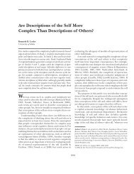 Are Descriptions of the Self More Complex Than Descriptions of ...