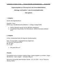 Übungsblatt Bibliographieren/Literaturverzeichnis - UK-Online