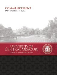 Commencement Exercises - University of Central Missouri