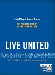 Annual Report and Recognition Book - United Way of Greater Toledo