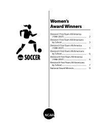 NCAA Women's Soccer Award Winners