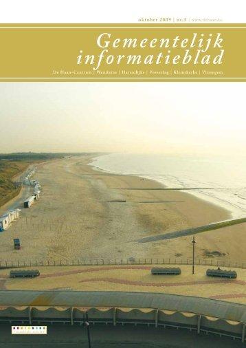 Informatieblad oktober 2009 - De Haan