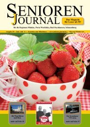 Ausgabe 25 - Juni / Juli 2011 - Senioren Journal
