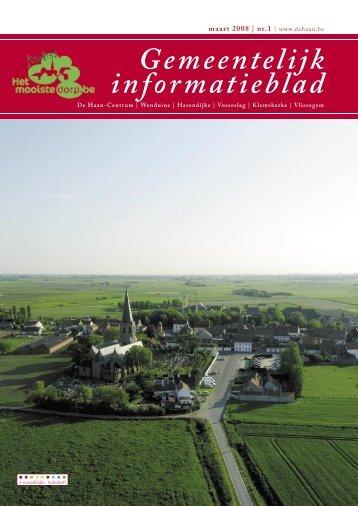 Informatieblad maart 2008 - De Haan