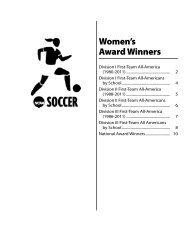 Women's Award Winners - NCAA