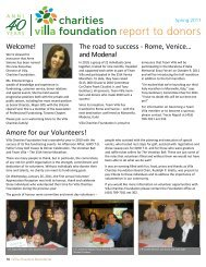 Welcome! The road to success - Rome, Venice ... - Villa Charities
