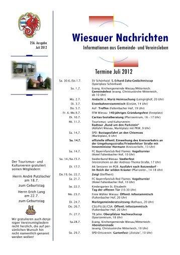 Juli 2012 - Markt Wiesau