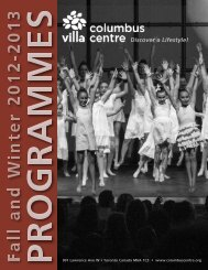 Fall/Winter 2012/13 - Villa Charities