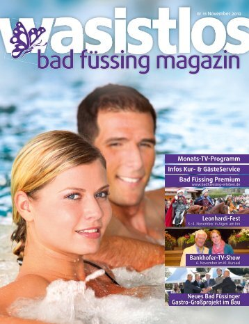 wasistlos badfüssing-magazin - Ausgabe November 2012