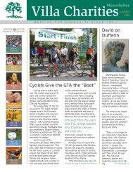 "Cyclists Give the GTA the ""Boot"" David on Dufferin - Villa Charities"