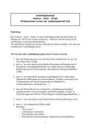 Ausbildungskonzept - Andreas Gayk Schule