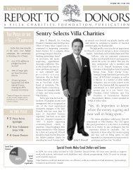 Sentry Selects Villa Charities