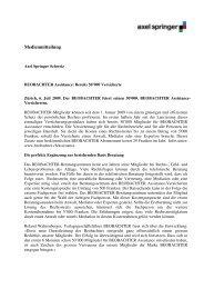Medienmitteilung 06.07.09 - Axel Springer Schweiz